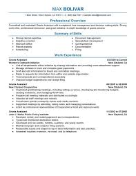 best grants administrative assistant resume example livecareer create my resume