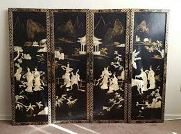 4 oriental vintage chinese wall art carved mother of pearl for in madera ca 5miles and