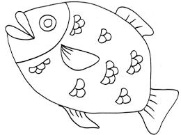 Grosso Pesce Con Scaglie Da Colorare Cose Per Crescere