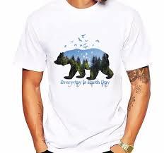 Bear T Shirt Design Us 4 65 51 Off New Arrivals Fashion Bear Design Mens T Shirt Boy Cool Style Tops Casual Wildlife Bear T Shirt Men Print T Shirts In T Shirts From