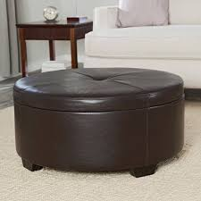 round leather ottoman coffee table. Full Size Of Coffee Table:round Leather Ottoman Cocktail Large Tufted Brown Round Table O