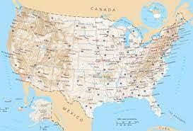 สหรัฐอเมริกาเส้นทางบนแผนที่-แผนที่ของสหรัฐอเมริกาเส้นทาง(อนเหนือของอเมริกา -Americas)