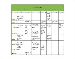 Fitness Chart Template Prinsesa Co