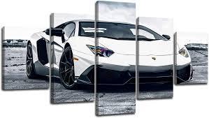 Lamborghini Wall Art Canvas Print White ...