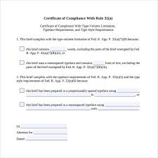 13 Certificate Of Compliance Samples Sample Templates