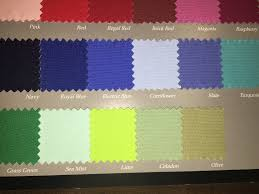 solid color linen by table linen type and size