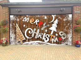 Merry Christmas Garage Door Covers 3d Banners Holiday Tree Decorations  Outdoor Billboard Murals GD42