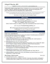 new grad nursing resume clinical experience nursing student resume sample monster com