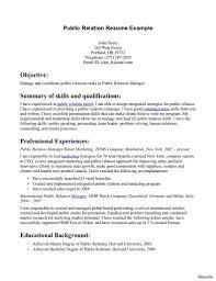 Public Relations Resume Sample Public Relations Marketing Classic 100 Pr Resume Examples Create My 26