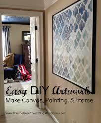 diy artwork make canvas painting and frame