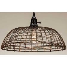 large wire scallop dome shabby chic pendant lamp
