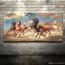 2018 modern oil painting no frame abstract horses canvas animal giclee wall art picture for living room home decoration size 5 sizes from angelart168