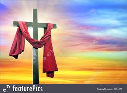 catholic cross on sky background royalty free stock photo