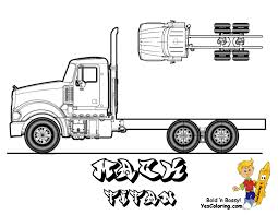 Collection of most popular forms in a given sphere. Semi Truck Coloring Pages For Kids Drawing With Crayons