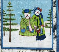 Christmas Quilt Fabric Panel Cool Characters Snowmen Christmas ... & Christmas Quilt Fabric Panel Cool Characters Snowmen Christmas Trees Adamdwight.com