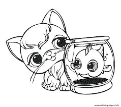 Pet Store Coloring Pages Cute Panda Cuties Elegant Littlest Shop And