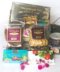 hawaiian gift basket lauhala with hawaiian chocolates macadamia nuts