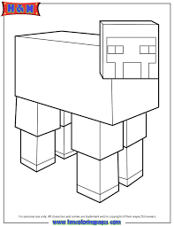 Small Picture Minecraft Sheep Coloring Page H M Coloring Pages