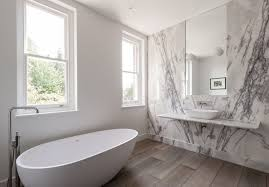 Bathroom Of The Week In London A Dramatic Turkish Marble - White marble bathroom