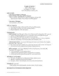 Resume Template Public Administration Resume Sample Free Career