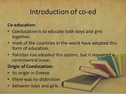 words essay on co edu essay