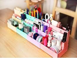 desk organizer set pink