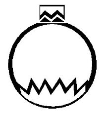 Small Picture Printable Christmas Coloring Page Ornament