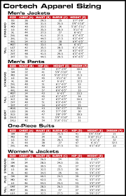 Suit Pants Size Chart Cortech Road Race Clear Rain Suit Pants