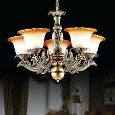 chandelier glass lamp shades unique vintage brass victorian dual