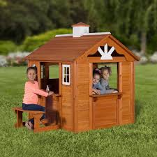 Backyard Discovery Summer Cottage 6' x 4.84' Playhouse & Reviews ...