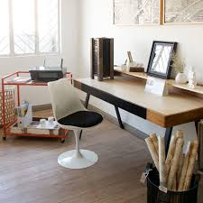long office desks. Extra-Long Writer\u0027s Desk And Coral Bar Trolley (turned Into An Office Side Table) By Bungalow 300, Custom Tulip Chair. Featured: Rolls Of Handmade Banana Long Desks U