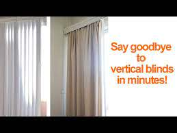 replace vertical blinds with curtains