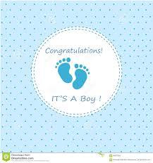 Congratulations Its A Boy Stock Vector Illustration Of Design