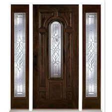 stained glass front door zinc stained chestnut mahogany right hand fiberglass stained glass front door side