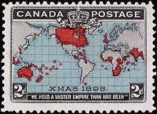 the war of the worlds  stamp showing the british empire at the time of the war of the worlds publication was also under de facto british rule