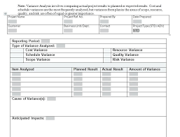 Budget Variance Report Example Analysis Template Examples Post – Appnews