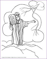Ten Commandments Coloring Page Coloring Home Ten Commandments For