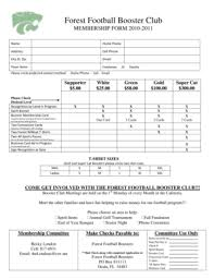 Fillable Online Foresthigh Booster Club Membership Form