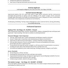 resume for restaurants restaurant manager resume s peppapp restaurants template australia