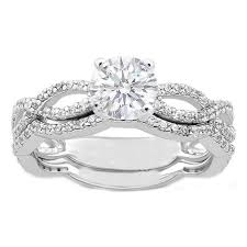 infinity wedding rings. infinity engagement ring and matching wedding band rings