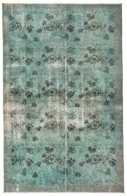 Green overdyed rug Dining Room Rugncarpet Gray Overdyed Area Rug The Orient Bazaar