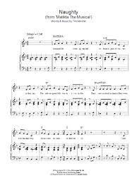 musical sheet naughty from matilda the musical sheet music direct