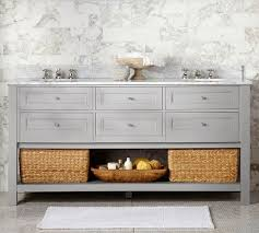 Classic Double Sink Vanity Gray Pottery Barn