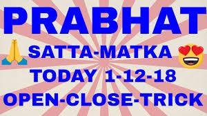 Prabhat Guessing Chart Prabhat Satta Matka Today 27 08 2018 Open To Close Jodi