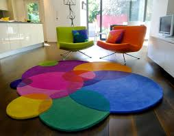 image of colourfull contemporary round rugs