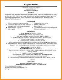 8 9 Resumes For Fast Food Restaurants Urbanvinephx Com