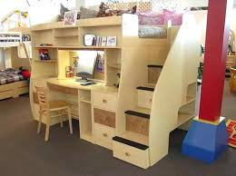 bunk bed with desk. Build Loft Bed Desk Underneath Brown Carpet With Bunk S