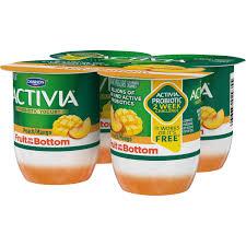 dannon activia fruit fusion low fat peach and mango probiotic yogurt 4 oz 4 cups walmart