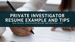 Private Investigator Resume Example And 10 P.i. Resume Tips # 207