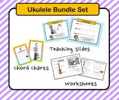 Chord Charts For Kids Complete Ukulele Course Kit For Kids Bundle
